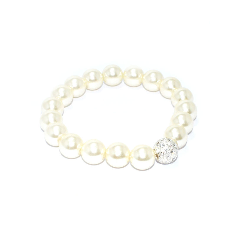 PEARLS WITH CRYSTAL BEAD BRACELET - product image