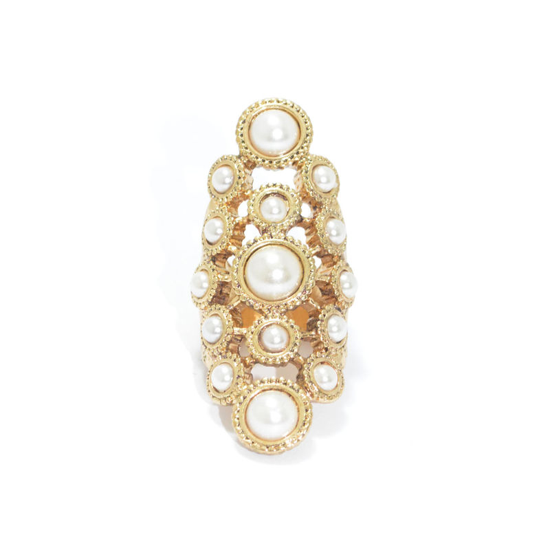 PEARLS DECOR HOLLOW RING - product image