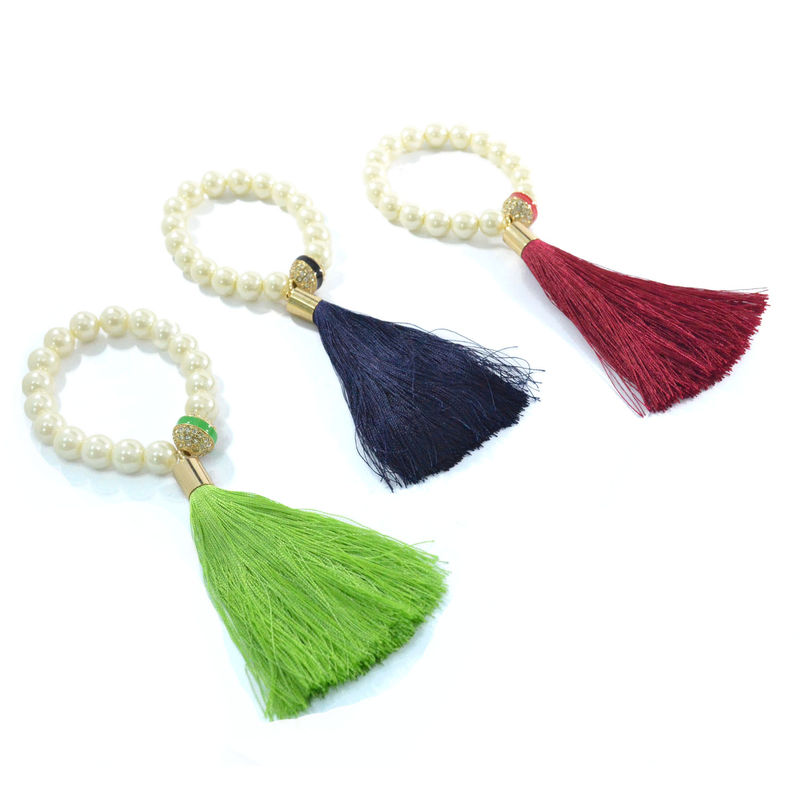 PEARL WITH TASSEL BRACELET - product image