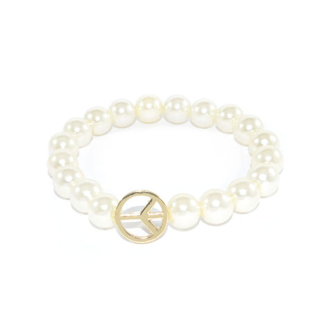 PEARL,WITH,PEACE,LOGO,ELASTIC,BRACELET,vendor-unknown,Cart2Cart
