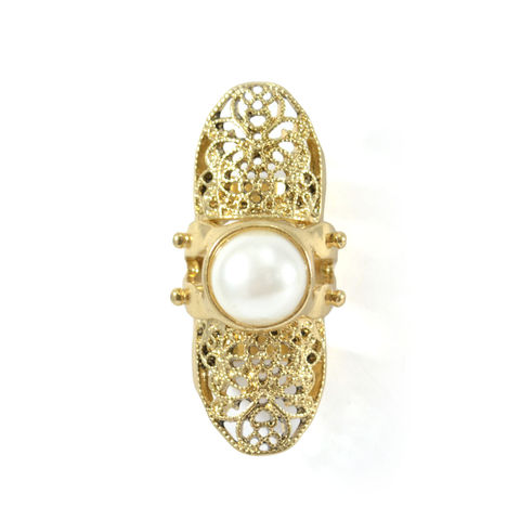 PEARL,WITH,PATTERN,MOVABLE,KNUCKLE,RING,pearl knuckle ring, bendy knuckle ring, gold knuckle ring