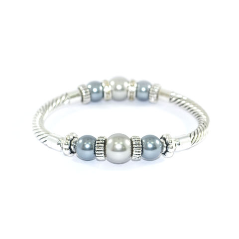 PEARL,AND,CRYSTAL,METALLIC,BRACELET