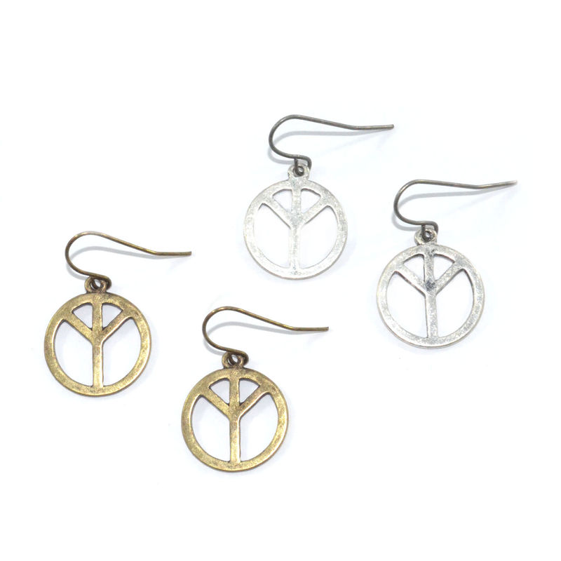 PEACE SIGN EARRINGS - product image