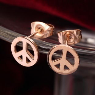 PEACE SIGN EARRING - product image