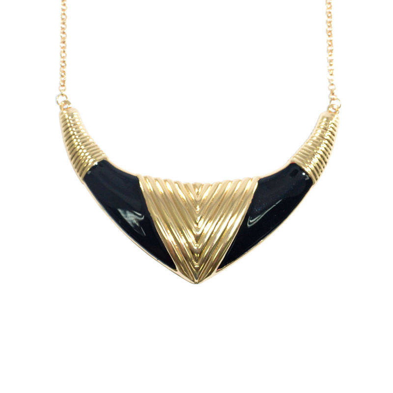PATTERN TUSK COLLAR NECKLACE - product image