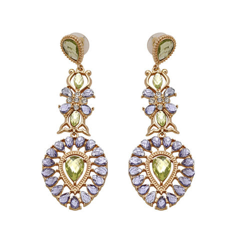 PATTERN,CRYSTALS,DECOR,DROP,EARRINGS