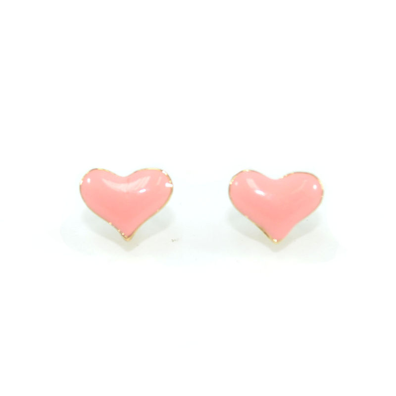 PASTEL HEART STUD EARRINGS - product image