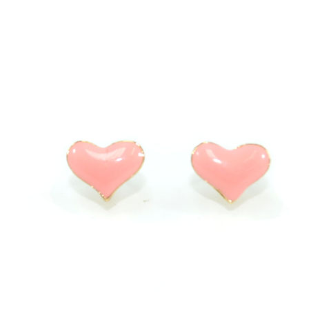 PASTEL,HEART,STUD,EARRINGS