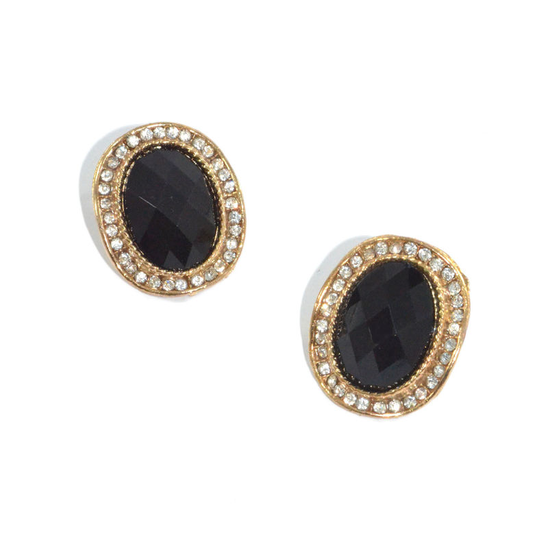 OVAL SHAPED CRYSTAL EARRINGS - product image