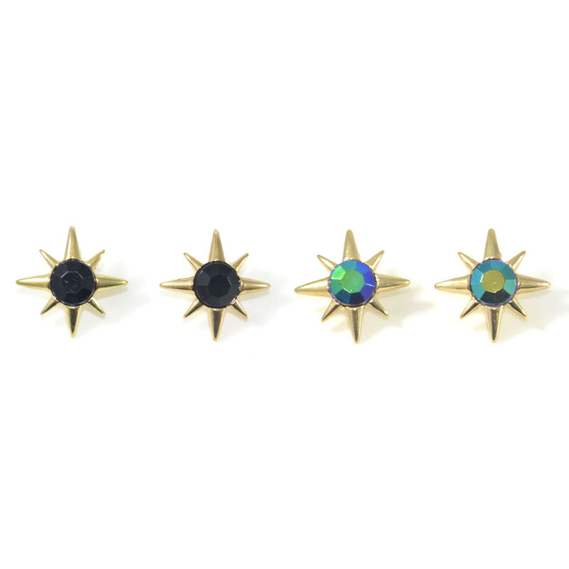 OCTAGON SPIKE EARRINGS - product image