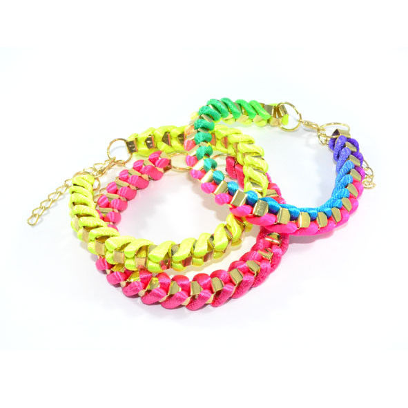 NEON WITH METAL CHAIN BRACELET - product image