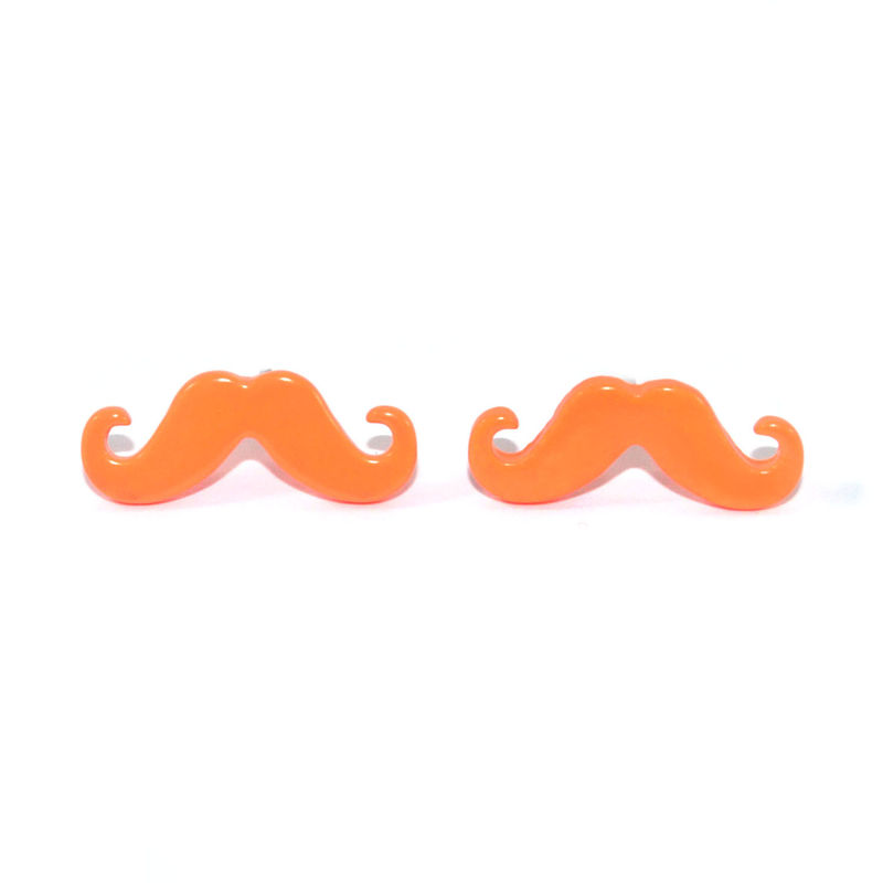 NEON MUSTACHE EARRINGS - product image