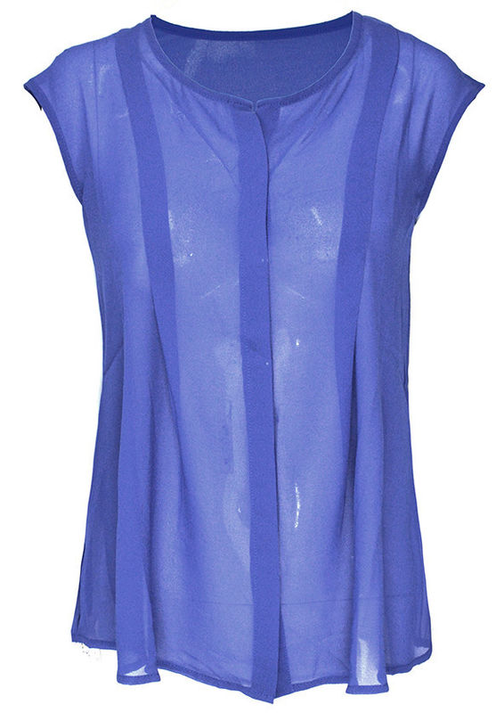 NAVY DARTED TOP - product image
