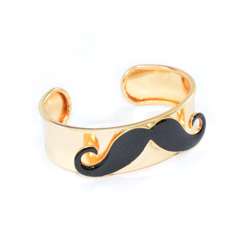 MOUSTACHE,BANGLE,GOLD MUSTACHE BANGLE, BLACK MOUSTACHE FASHION