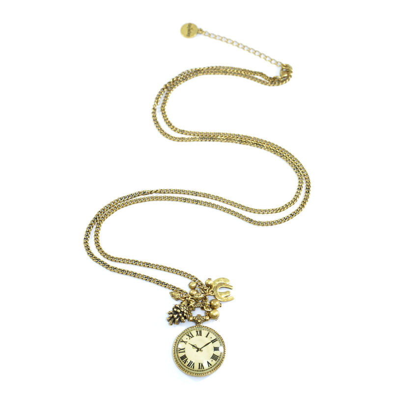 MULTI VINTAGE STYLE CHARMS NECKLACE - product image