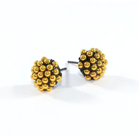 MULTI,STUD,BALL,SHAPE,EARRINGS