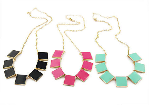 MULTI,SQUARE,NECKLACE