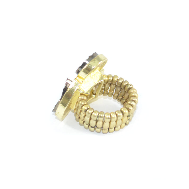 MULTI IRREGULAR CRYSTAL RING - product image