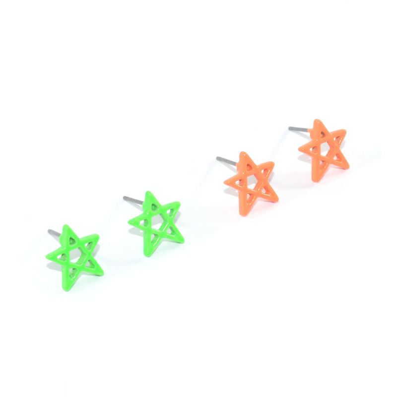 MINIMAL NEON STAR EARRINGS - product image