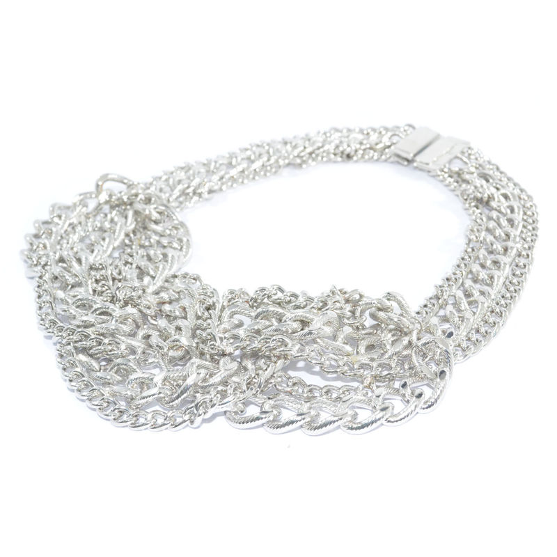 METALLIC TWO TONE CHAIN NECKLACE - product image