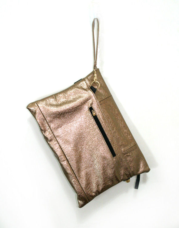 METALLIC TONE STUD CLUTCH BAG - product image