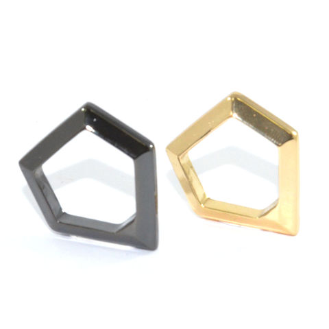 METALLIC,PENTAGON,RING,minimal pentagon ring, metallic pentagon ring