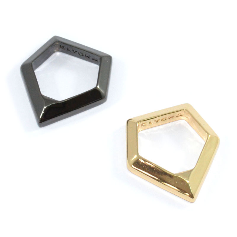 METALLIC PENTAGON RING - product image