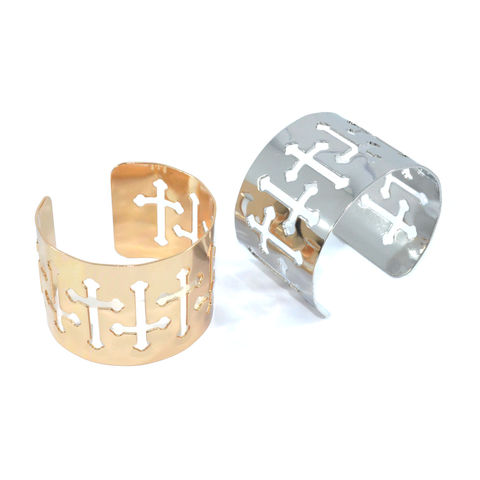 METALLIC,MULTI,HOLLOW,CROSS,BANGLE,vendor-unknown,Cart2Cart