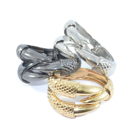 METALLIC,ANIMAL,CLAW,BANGLE