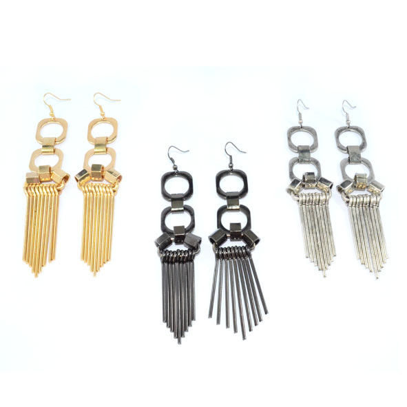 METAL STYLE DROP EARRINGS - product image