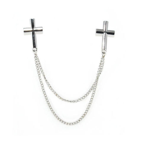 METAL,CROSS,COLLAR,NECKLACE