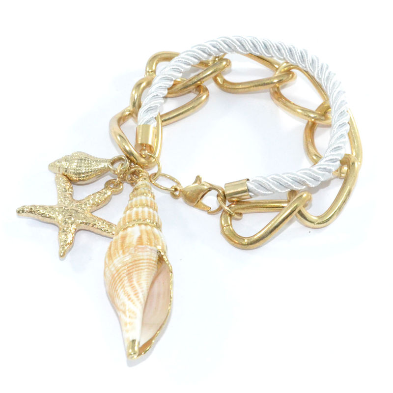 MARINE PENDANTS WITH CHAIN BRACELET - product image