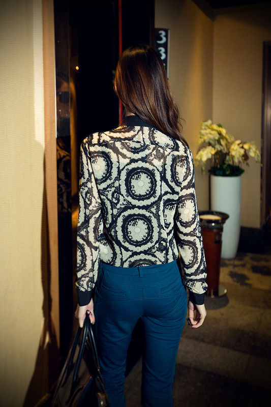 MANDARIN COLLAR BLOUSE - product image