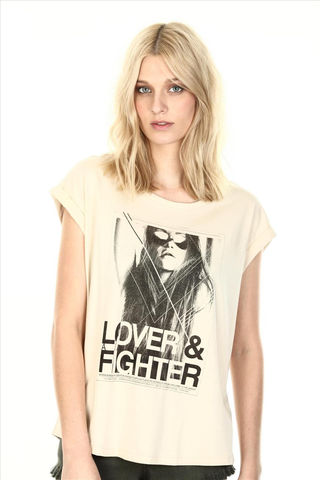 LOVER,FIGHTER,TEE