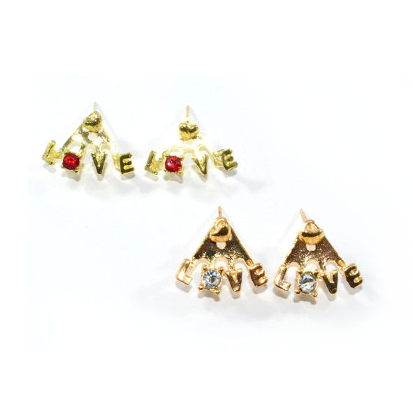 LOVE WITH CRYSTAL EARRINGS - product image