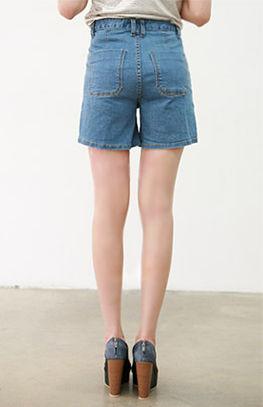 long denim shorts