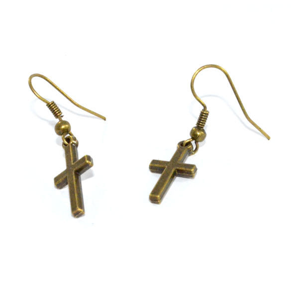 LITTLE CROSS EARRING - product image