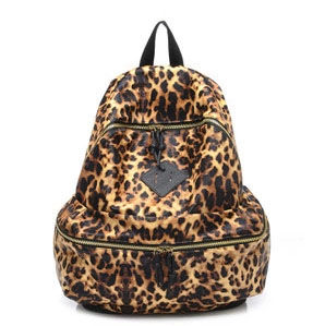 LEOPARD,PRINT,BACKPACK,LEOPARD PRINT BAG, LEOPARD PRINT LEATHER BAG, ANIMAL PRINT LEATHER BACKPACK, ANIMAL PRINT FAUX LEATHER BACKPACK, ANIMAL PRINT PU LEATHER BACKPACK