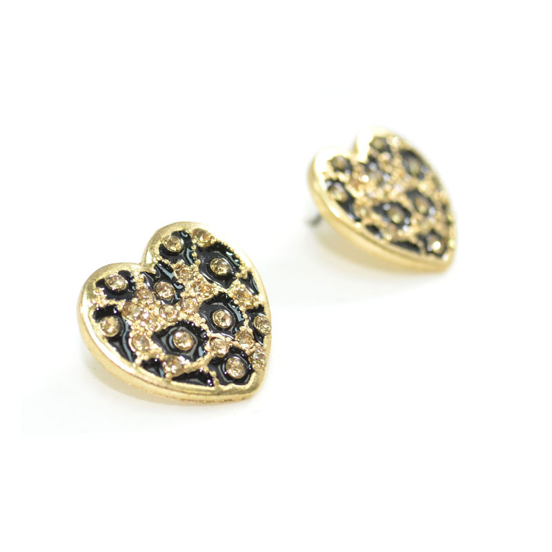 LEOPARD HEART SHAPE EARRING - product image