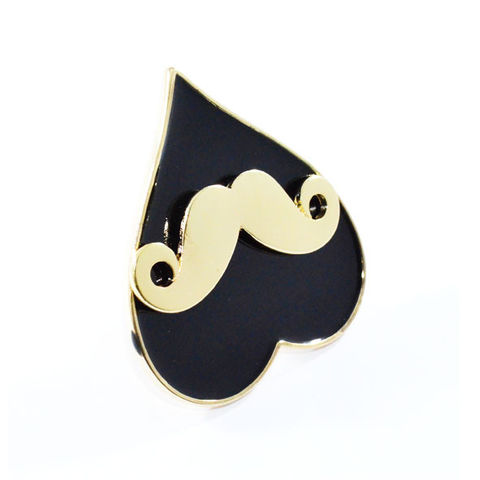 LARGE,GOLD,TONE,MUSTACHE,WITH,HEART,RING,moustache ring, black moustache ring, mustache ring, gold mustache ring