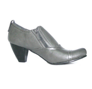 ZIP UP MID HEELED SHOES - product image
