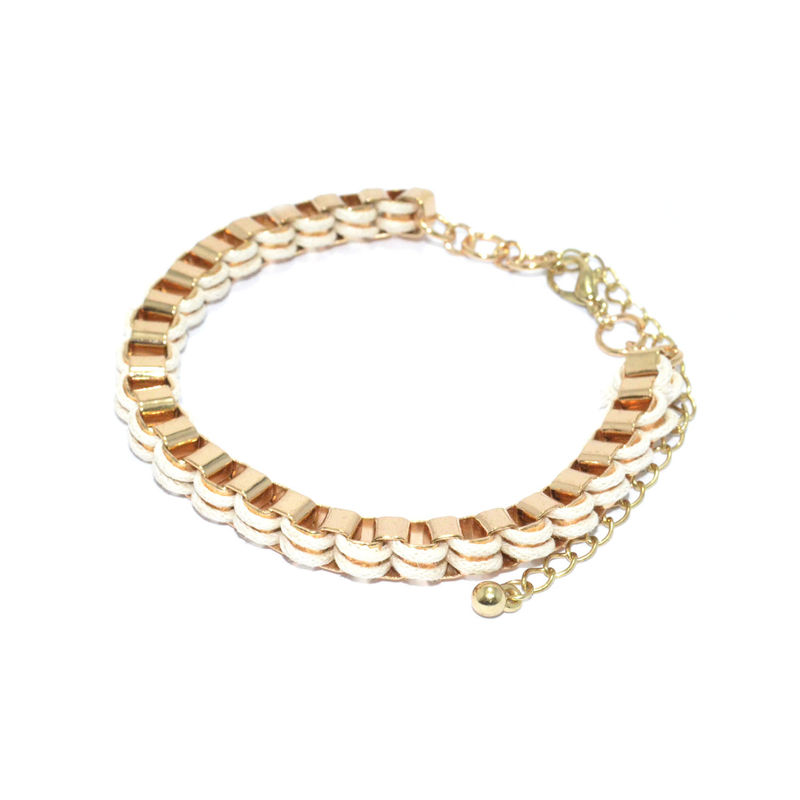 WOVEN STRAP AND CHAIN LINK BRACELET - product image