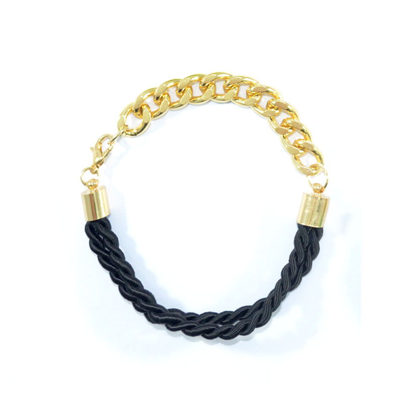 WOVEN STRAP AND CHAIN BRACELET - product image