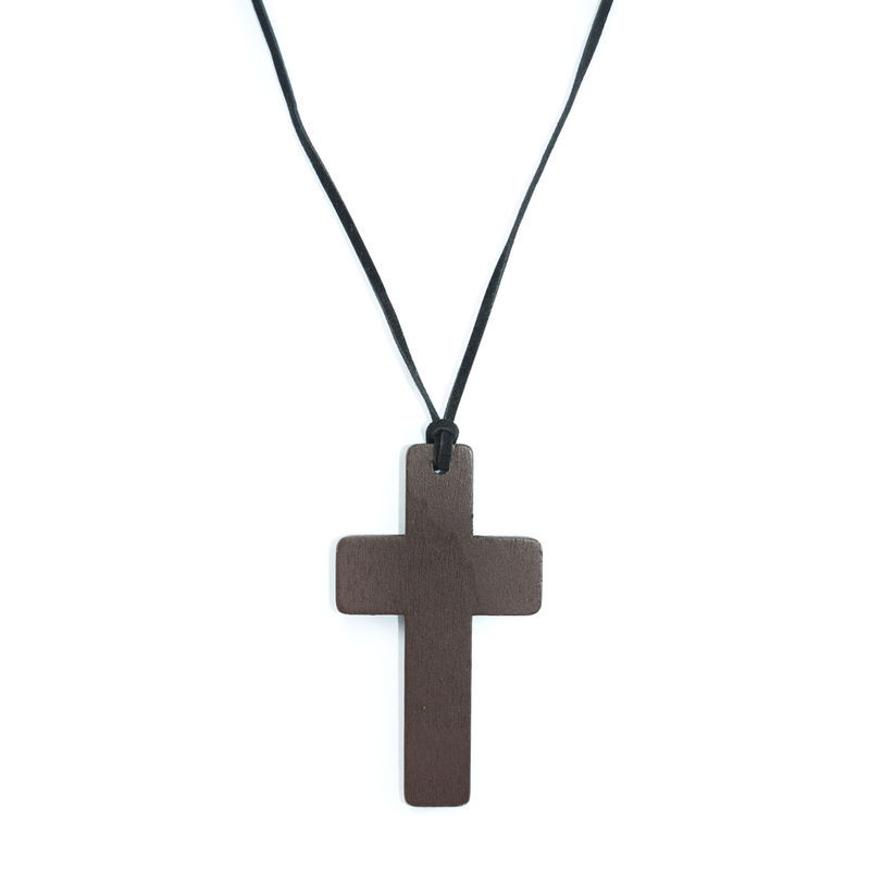 WOOD CROSS NECKLACE - product image