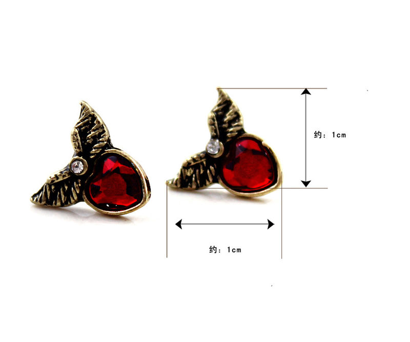 WING WITH GEM EAR STUD - product image