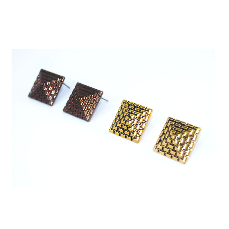 VINTAGE STYLE PYRAMID STUD EARRINGS - product image