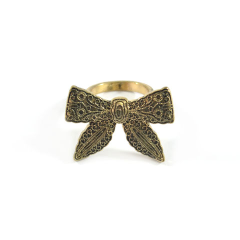 VINTAGE,STYLE,PATTERN,BOW,RING,vintage bow ring, bow ring, large bow ring