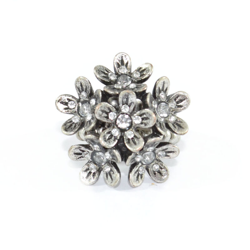 VINTAGE STYLE FLOWERS WITH CRYSTAL RING - product image