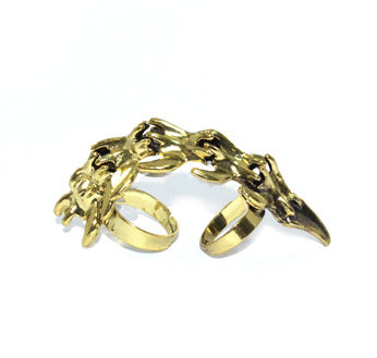 VINTAGE STYLE FINGER BONE MOVABLE KNUCKLE RING - product image