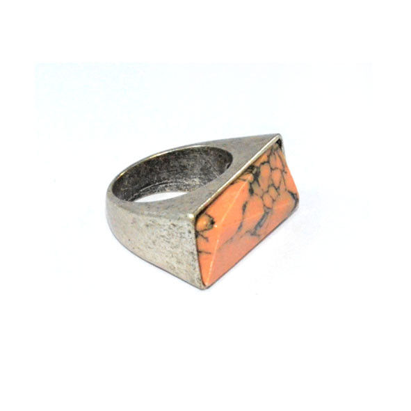 VINTAGE SILVER STONE RING - product image